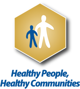 Healthy people, healthy communities graphic