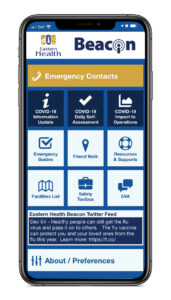 Eastern Health's Beacon App for Employees