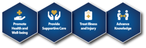 Lines of Business: Promote Health and Well-Being, Provide Supportive Care, Treat Illness and Injury, Advance Knowledge